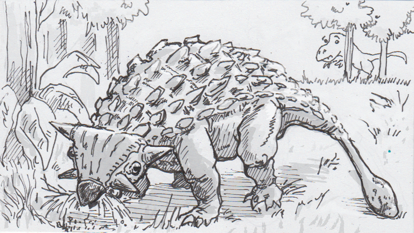 Ankylosaurs' bone-crunching tail-cudgels