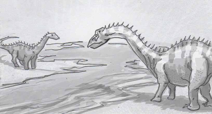 Drawing of Supersaurus