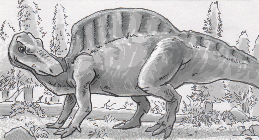 Ouanosaurus showed its age with a set of full-sized sail spines