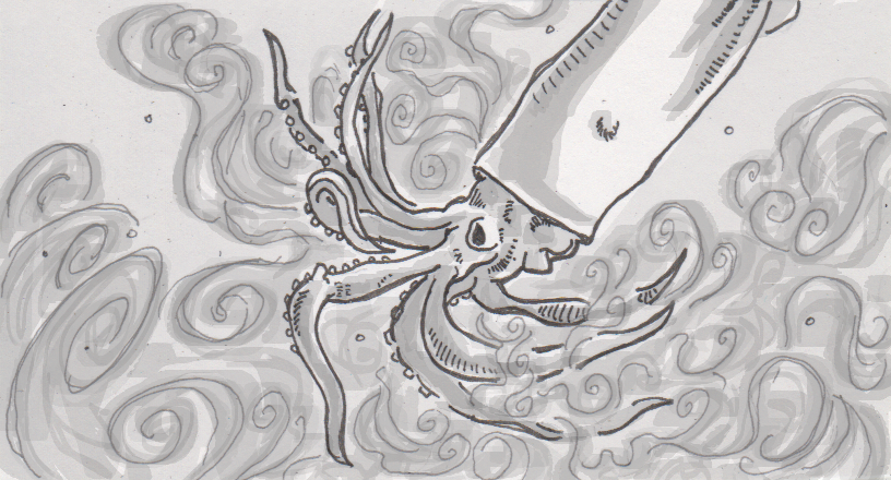Explaining the ink ejected from a squid or octopus's anus