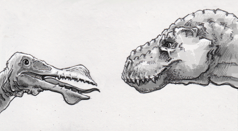 Ornithocheirus and T. rex