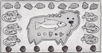 Representation of a fish to bear to berry food web