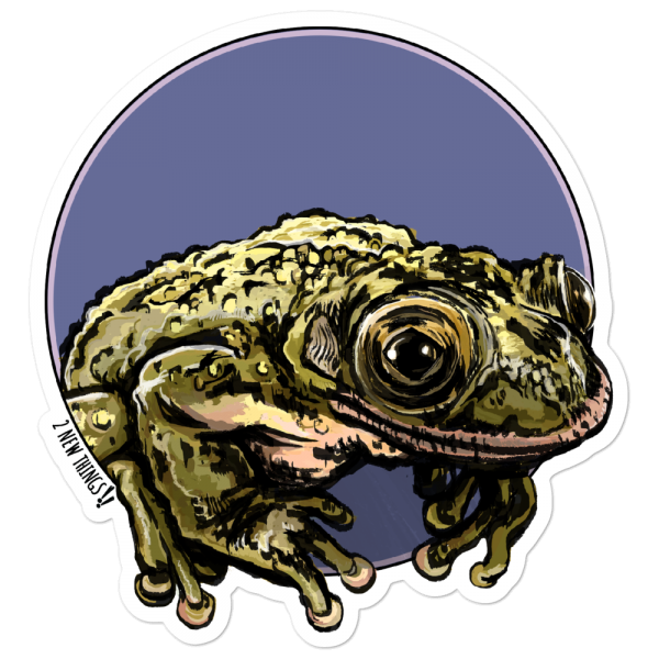 Greening's Frog vinyl sticker